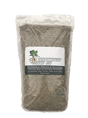 Boonetown Seed Easy Sow Easy Grow No Plow PERENNIAL food plot and lawn seed, perfect mix of Dutch White Clover, Alsike Clover, Jumbo Ladino clover, and Annual Winter Rye! (Food Perennial Seeds)