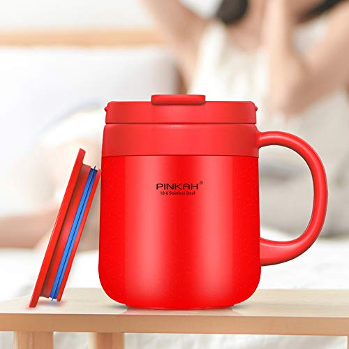 Loiofoe 0.34L Taza Térmica Taza de café con Aislamiento de ...