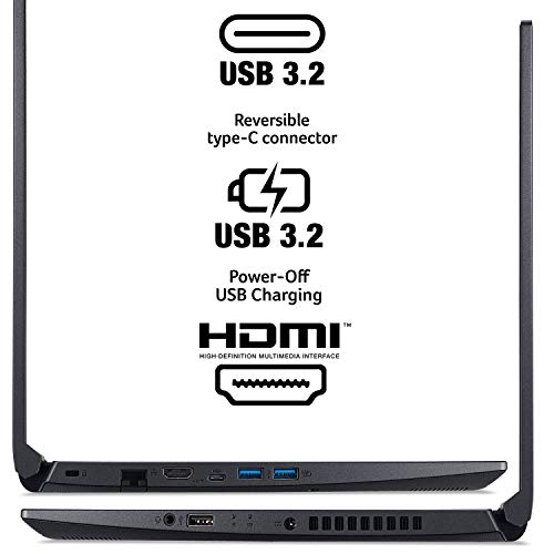 "Acer Aspire 7 Laptop, 15.6"" Full HD IPS Display, AMD Ryzen 5 3550H, NVIDIA GeForce GTX 1650, 8GB DDR4, 512GB NVMe SSD, Backlit Keyboard, Windows 10 Home, A715-41G-R7X4"