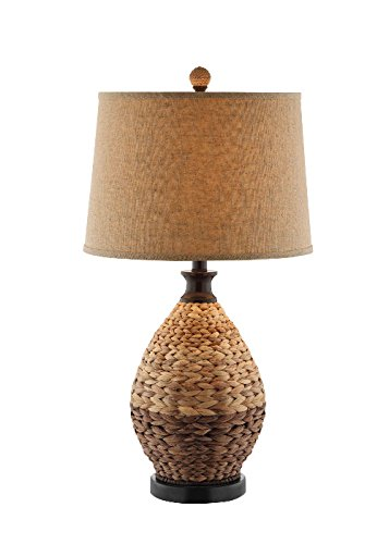 Rattan Painted Table (Stein World Furniture Weston Table Lamp, Rattan, Light and Dark Natural Color)