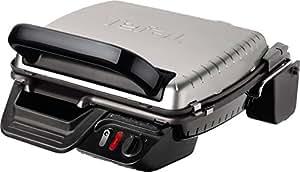 Tefal Ultracompact GC305012 - Grill barbacoa (2000 W, 3 modos de cocción con termostato regulable, bandejas extraíbles y desmontables)