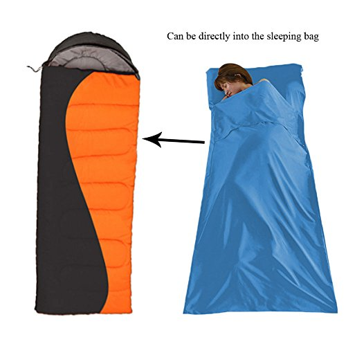 Sleeping Bag LinerWide Cotton Camping And Travel Sheet Lightweight Warm Weather Roomy Compact