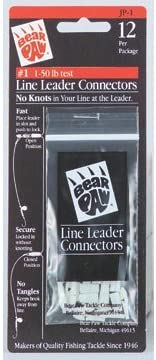 75-Pound Line Capacity Size 2 Pack of 6 Bear Paw MP2 Line-Leader Connectors