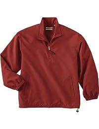 North End Men's Micro Plus Half-Zip Teflo Windshirt, Chili Red