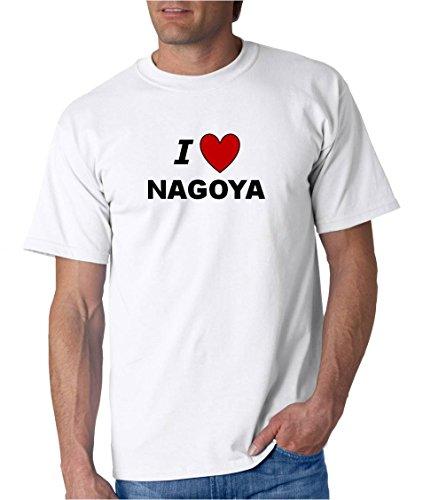 I LOVE NAGOYA - City-series - White T-shirt - size (Nagoya Series)