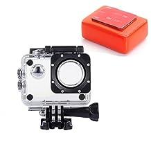 VVHOOY Waterproof Case with Float Sponge for AKASO EK5000 EK7000 4K /Vtin/Pictek/ODRVM/APEMAN/SJCAM SJ4000 Sport Action Camera