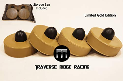Traverse Ridge Racing Limited Gold Edition Tesla Jack Pad Lift Point Adapter Tool for Model S 3 X with Bag (4-Pack) - New Improved Design - Metal Reinforced Upper, Low Profile ()