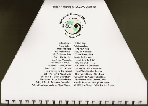 World of Harmony Music; Wishing You a Merry Christmas ~ Christmas Music Book for Zither, Lap Harp