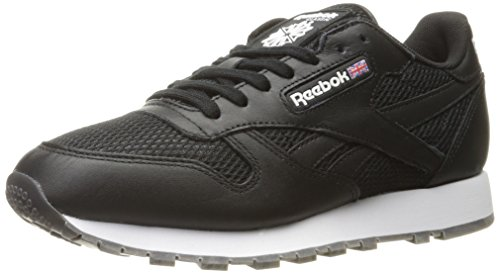 Reebok - Leder, klassisch, Nm Herren Black/White/Coal-gum