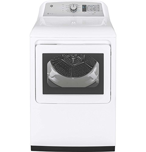 GE GTD75ECSLWS 27″ Inch Smart Electric Dryer with 7.4 cu. ft. Capacity, 14 Dry Cycles, 5 Temperature Settings, in White