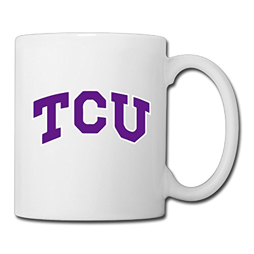 Christina TCU Horned Frogs Logo Ceramic Coffee Mug Tea Cup White (1 Liter Gatorade Water Bottle)