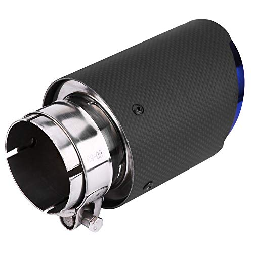 Car Exhaust Pipe Carbon Fibre Matt Car Exhaust Muffler Exhaust Pipe 63mm 89mm: