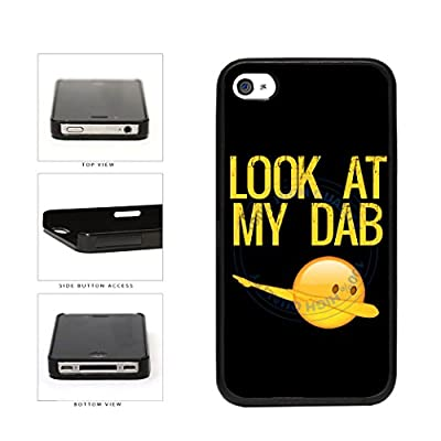 Look At My Dab Plastic Phone Case Back Cover For Apple iPhone 4 4s includes BleuReign(TM) Cloth and Warranty Label