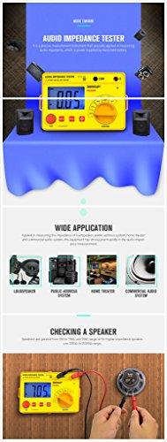 EM480B Audio impedance tester test ranges 20/200/2000 resistance meter 1KHz resistance ()