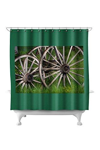 Wagon Wheels (71x74 Polyester Shower (Pottery Wagon Wheel)