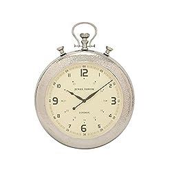 Benzara Simply Unique Aluminum Wall Clock