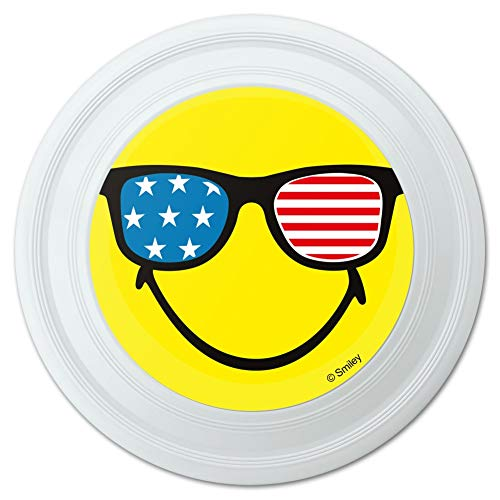 GRAPHICS & MORE Smiley Smile American Flag Patriotic Glasses Happy Yellow Face Novelty 9