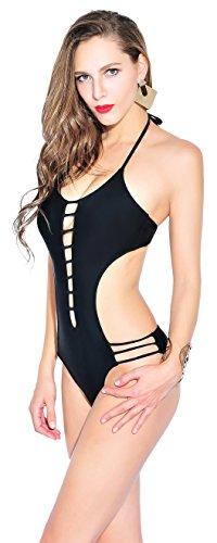 YARBAR Costume Intero Effetto Hollow Push con Donna da Web Bagno Bikini Spider up 4FRq5nU4r