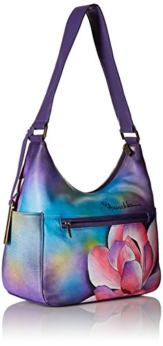 Anuschka Hand Painted Leather Women'S Classic Hobo with Side Pockets, Magnolia Melody by Anna by Anuschka (Image #2)