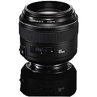 YONGNUO YN85mm F1.8 AF/MF Standard Medium Prime Fixed Telephoto Lens for Canon EF Mount Rebel DSLR Cameras