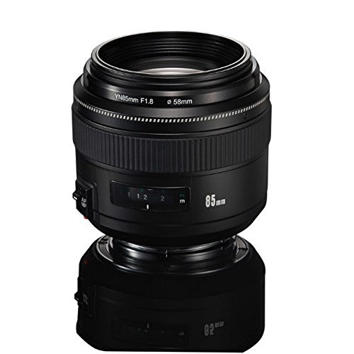 YONGNUO YN85mm F1.8 AF/MF Standard Medium Prime Fixed Telephoto Lens for Canon EF Mount Rebel DSLR Cameras by YONGNUO