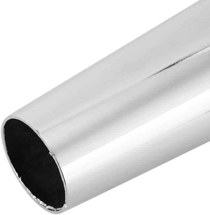 Retro Motorcycle Muffler Pipe Modified Tail Exhaust System Universal Chromed Silver Exhaust Muffler