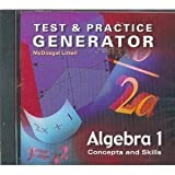 Algebra 1: Concepts and Skills, MCDOUGAL LITTEL, 0618392009
