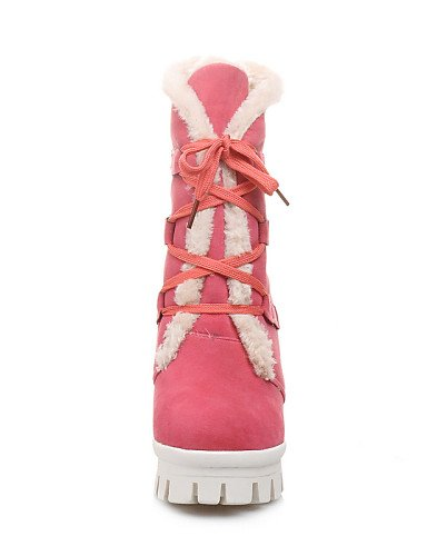 Plataforma Vestido pink pink cn39 Rosa a Vellón Punta de Robusto Tacón eu39 black us8 Casual Botas Botas eu39 mujer uk6 XZZ Azul eu39 us8 Redonda us8 uk6 Moda Zapatos cn39 uk6 Negro la wXHxOO