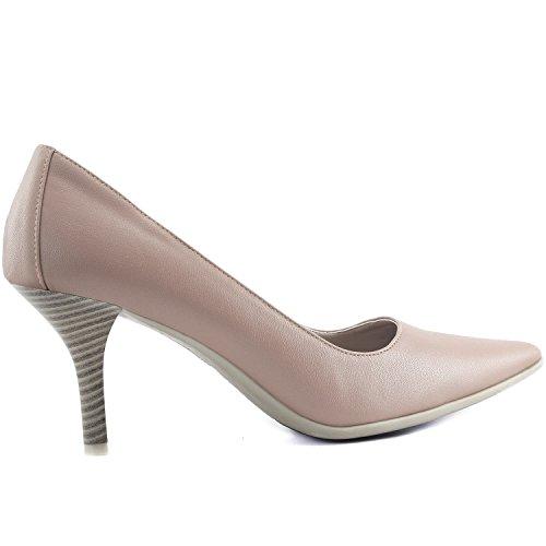 Dailyshoes Femmes Classique De La Mode Bout Pointu Talons Hauts En Caoutchouc Spécial Antidérapant Semelle Robe Pompes Chaussures Beige