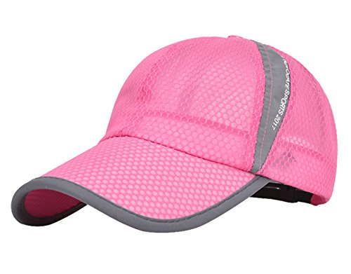 - Mens Summer Fashion Hat Caps Adjustable Snapback for Baseball Tennis Outdoor Sporting Rose Pink