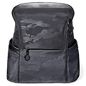 Skip Hop Diaper Bag Backpack, Easy-Access Unisex Bag, Paxwell, Black Camo (Discontinued by Manufacturer)