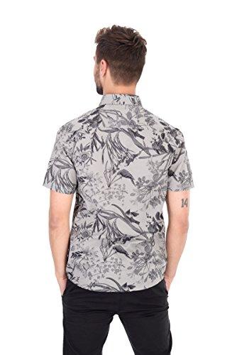 Camicia manica corta uomo Only & Sons fantasia floreale grigio