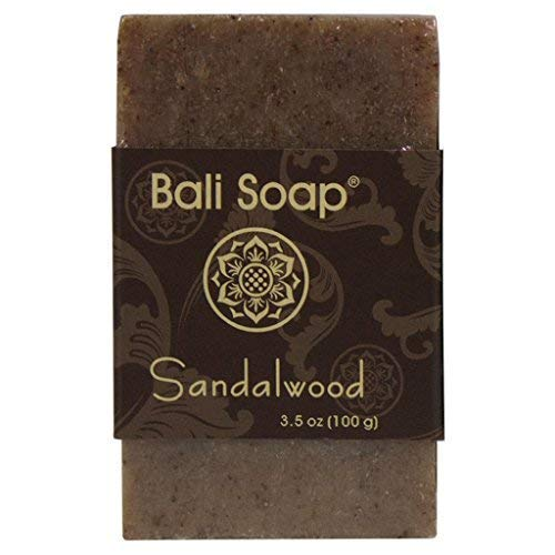 Bali Soap - Sandalwood Natural Soap Bar, Face or Body Soap Best for All Skin Types, For Women, Men & Teens, Pack of 3, 3.5 Oz each