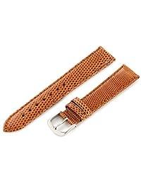 Hadley-Roma Women's LSL715RS 180 18mm Light Tan Genuine Java Lizard Watch Strap