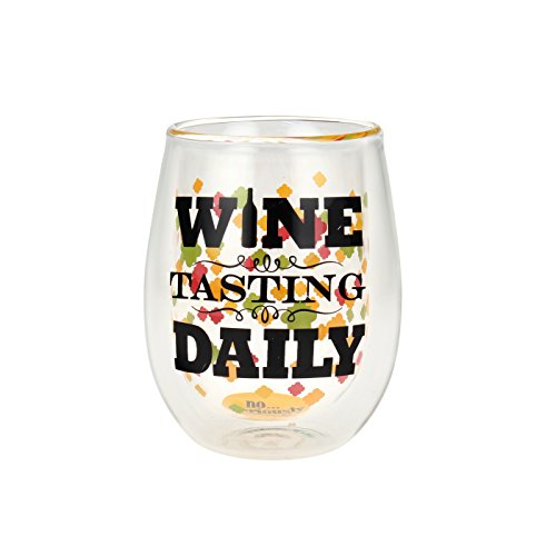 """Top Shelf Double Wall Stemless """"Wine Tasting Daily"""" Wine ..."""
