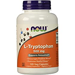 NOW L-Tryptophan 500 mg,120 Veg Capsules
