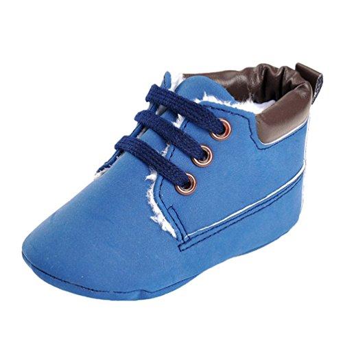 CHENGYANG Baby Mädchen Jungen Weichen Sohle Schuhe Sneakers Casual Schuhe Lauflernschuhe Krippeschuhe Babyschuhe Blau#08