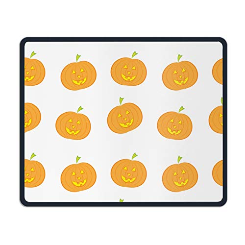 Gaming Mouse Pad,Mouse Pad Unique Printed Mousepad Stitched Edge Non-Slip Rubber Halloween Pumpkin -