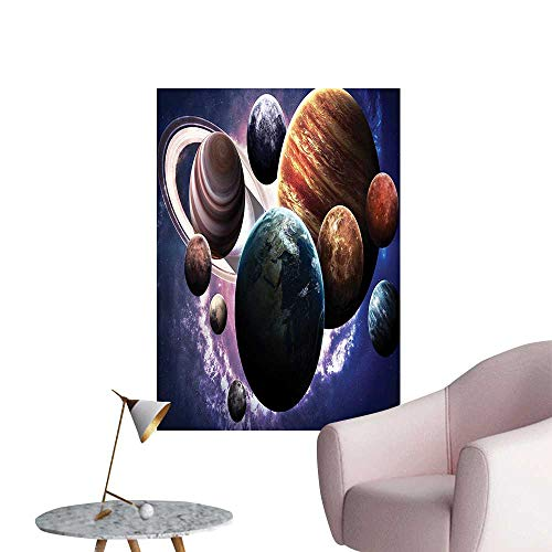 Vinyl Wall Stickers Solar System Planets All Together Space Mercury Jupiter Globe urn Perfectly Decorated,16