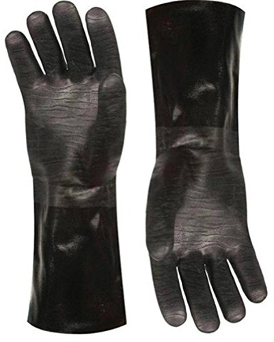 Best Insulated BBQ Pit Gloves * 14' Length for Outdoor Barbecue, Cooking and Frying! * Designed For...
