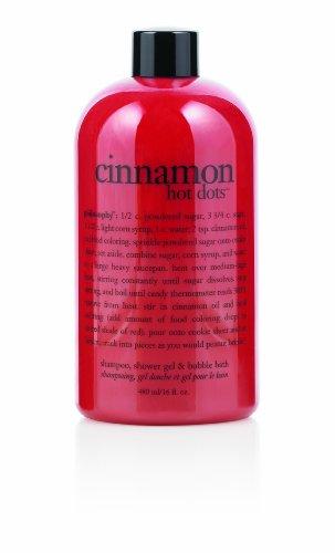 Philosophy Cinnamon Hot Dots Shampoo/Shower Gel/Bubble Bath, 16 Ounces