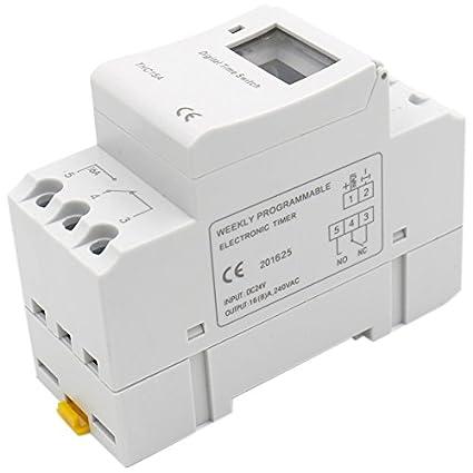 Wechselstrom 220-240V Digital LCD Din Programmierbar Wochen Schiene Timer Zeit