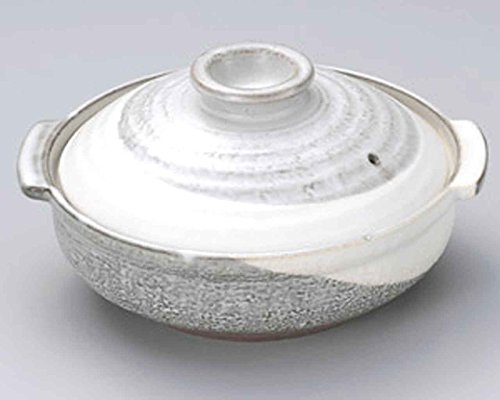 Kyoto-Kobiki for 4-5 persons 10.8inch Donabe Japanese Hot pot Grey Ceramic Made in Japan