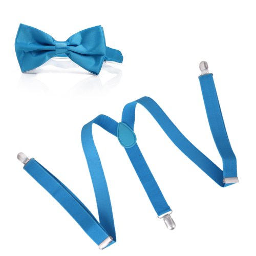 HDE Pre Tied Adjustable Suspenders Wedding