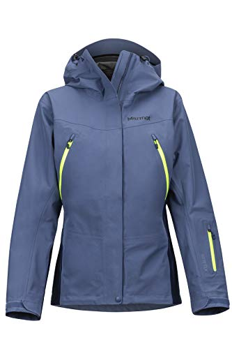 Marmot Damen Hardshell Ski- Und Snowboard Jacke, Winddicht, Wasserdicht, Atmungsaktiv Wms Spire, Storm/Arctic Navy, XL, 35350