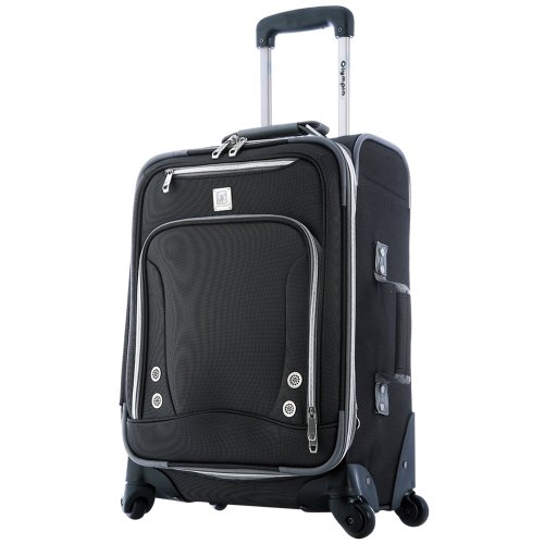 Olympia Carry-On, Black (Olympia 21 Inch Spinner Carry On Suitcase)