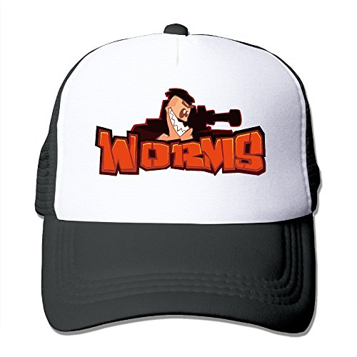 Trucker Worms WMD Video Game Adjustable Mesh Back Baseball Cap Black