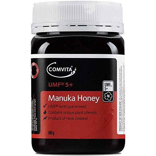 - Comvita Certified UMF 5+ (MGO 83+) Manuka Honey I New Zealand's #1 Manuka Brand I Raw, Non-GMO, Halal, and Kosher I Authentic (17.6 oz)