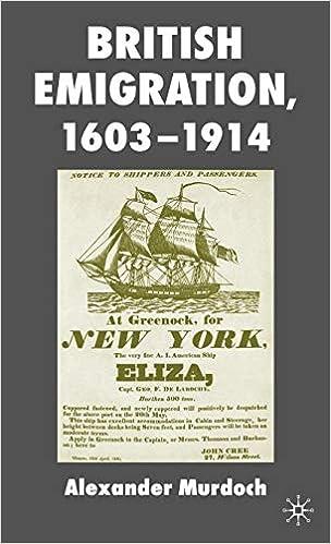 British Emigration, 1603-1914