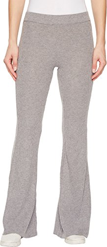 Volcom Junior's Womens' Lil Fitted Rib Fleece Sweatpant, Heather Grey, S